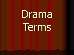Drama Terms - Johnson County Schools