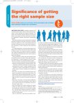 Significance of getting the right sample size