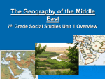The Geography of the Middle East (1).