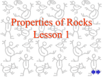 Properties of Rocks-Lesson 1