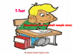 T-Test (Hypothesis test for small sample sizes)