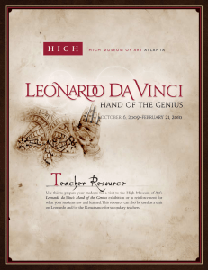 Leonardo da Vinci: Hand of the Genius Teacher Resource