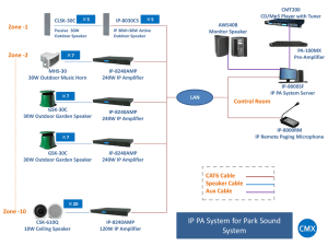 IP PA System for Park Sound System Solution