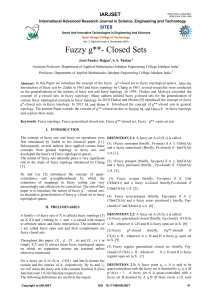 Fuzzy g**- Closed Sets