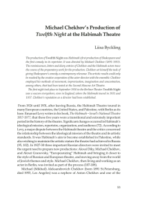 Michael Chekhov`s Production of Twelfth Night at the Habimah Theatre