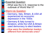 American Reactions to Outbreak WWII (PowerPoint)