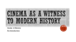 Cinema as a Witness to Modern History