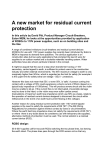 A new market for residual current protection