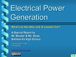 Electrical Power Generation - Bartlesville Public Schools