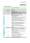 View the final program here - Biofilms4 International Conference