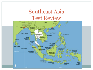 Human Geography of Southeast Asia