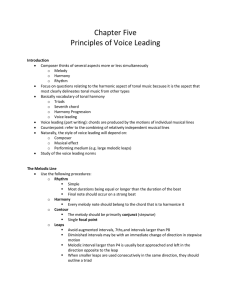 Tonal Harmony Chapter 5 Pinciples of Voice Leading