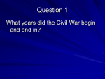 Civil War Review Questions