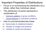 Data Distributions: