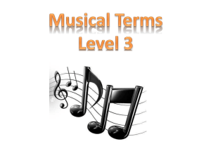 Musical Terms Level 3