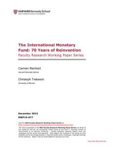 The International Monetary Fund: 70 Years of Reinvention