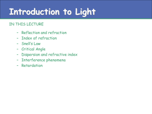 Introduction to light 2