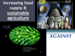 Increasing Food Supply and Sustainable Agriculture