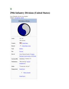29th Infantry Division - 116th Infantry Regiment