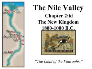 Chapter 2:i The Nile Valley