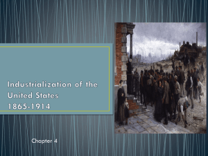 Industrialization of the United States 1865-1914