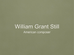 William Grant Still - Mrs. Serres Music Room