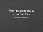 From populations to communities