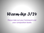 Warm-Up 3/11 - By the Bellamy River