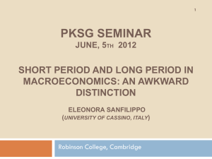 Short period and long period in macroeconomics: an awkward