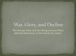 Persian and Peloponnesian Wars PPT
