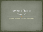 Three types of Rocks *Notes*