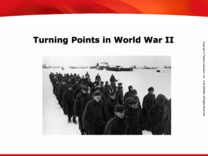 Significant Allied victories in 1942 and 1943 marked a turning point