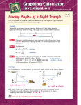 Finding Angles of a Right Triangle