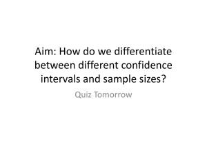 lesson32-review of all confidence interval