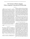 The Function of Body Language Within Language