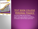 Text book College Personal Finance
