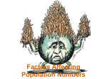 Factors Affecting Population Numbers Carrying capacity