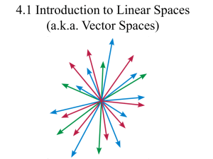 4.1 Introduction to Linear Spaces