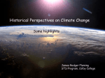 Anthropogenic Climate Change –Connections to
