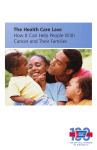 The Health Care Law: How It Can Help People With Cancer and
