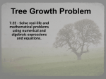 Tree Growth Problem
