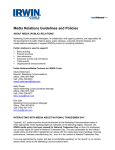 Media Relations Guidelines and Policies
