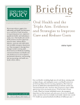 Oral Health and the Triple Aim: Evidence and Strategies to
