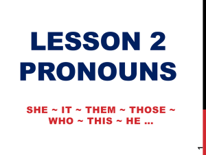 painless english – lesson 002 – pronouns