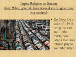 Aim: What function does religion play in society?