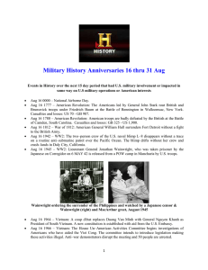 Military History Anniversaries 0816 thru 083115