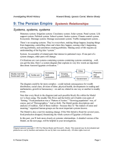 9: The Persian Empire Systemic Relationships