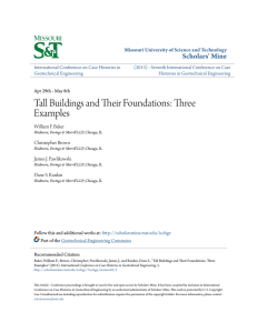 Tall Buildings and Their Foundations: Three