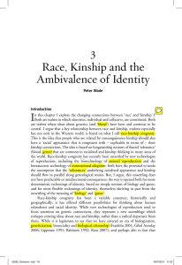 Race, Kinship and the Ambivalence of Identity