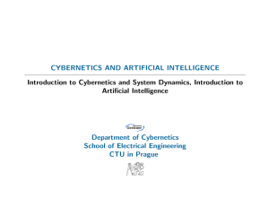 CYBERNETICS AND ARTIFICIAL INTELLIGENCE Introduction to